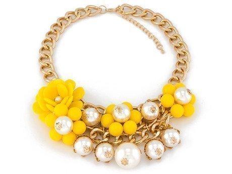 Naszyjnik flowerbed yellow