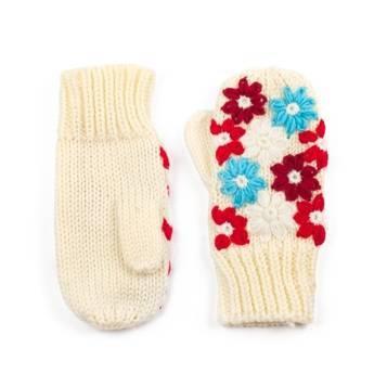 Rękawiczki naszywane kremowe