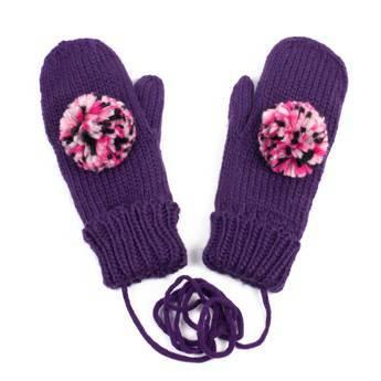 Rękawiczki pompon violet