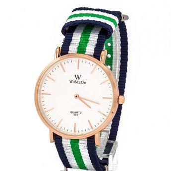 Zegarek pleciony zielony
