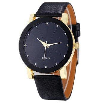 Zegarek z cyrkoniami złoty